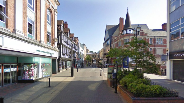A 33-year-old man was assaulted in the area between Primark and Marks and Spencer on Lincoln High Street. Photo: Google Street View