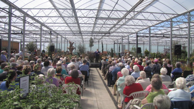 The opening ceremony for the new Pennells Garden Centre