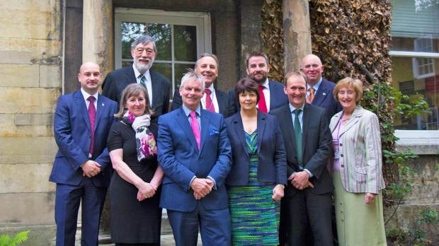 The Lincolnshire County Council Executive appointed in May 2015. Photo: LCC