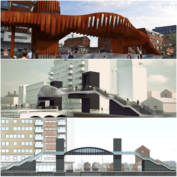 The footbridge has undergone a number of delays and redesigns since its initial proposal.