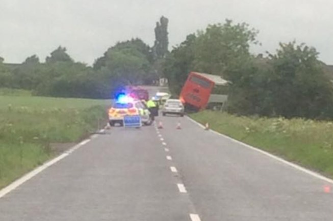 The bus crashed at around 7am on Saturday, June 13. Photo: Alisa Carruther