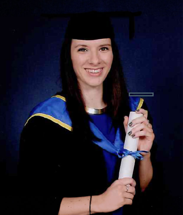 Carly Lovett graduated from the University of Lincoln in 2013.