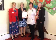 (L-R) Mary Horner, OSJCT Head of Care Quality, Hilda Hayo, Chief Admiral Nurse/CEO at Dementia UK, Sheila Dickson, Dementia Lead at Fosse House and Jill Clarke, OSJCT Area Operations Manager for Lincolnshire.