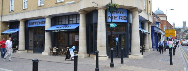 Caffe Nero moved into the former Cafe M premises in St Marks.