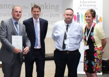 (L-R) Peter Jackson from Lincoln College, David Russell, CEO of the Education & Training Foundation, Paul Barnes from Lincoln College and Janet Bullivant from Children's Links.