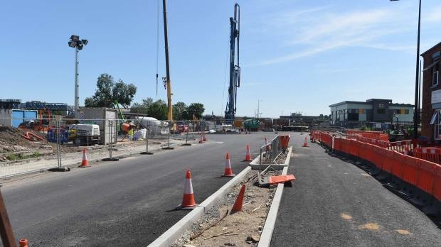 The first section of the East West Link Road can now be seen. Photo: Steve Smailes for The Lincolnite