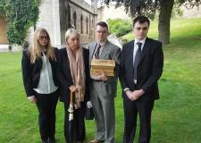 The family of Ashley Hughes after today's court hearing. Photo: Steve Smailes for The Lincolnite