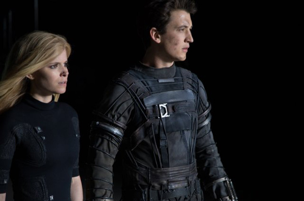 Kate Mara and Miles Teller in Fantastic Four (2015). Photo by Alan Markfield/Twentieth Century Fox Film Corporation