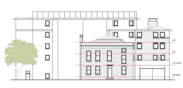 Plans for the four storey building on Newland
