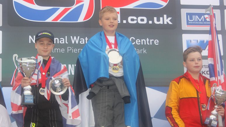 Jonathan Brewer (left) celebrates his silver medal at the Nottingham Grand Prix