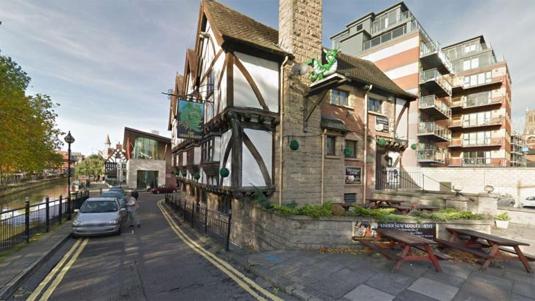 The Green Dragon on Waterside North in Lincoln  Photo: Google Street View