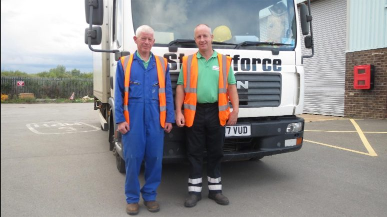 Dave Bassett, left and Martin Wilkinson, who stopped to help at the scene of a recent accident near Willingham