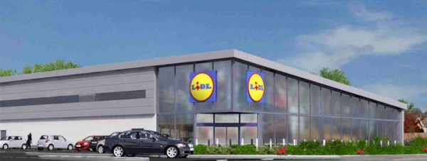 The proposed new Lidl supermarket in North Hykeham.