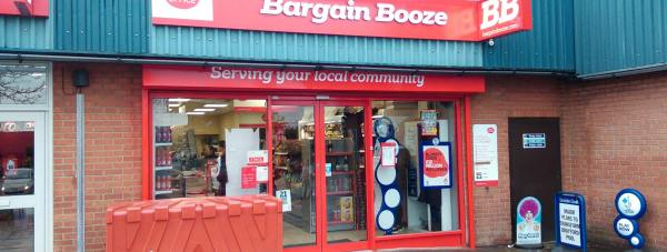 The new Lincoln Bargain Booze, off Wolsey Way