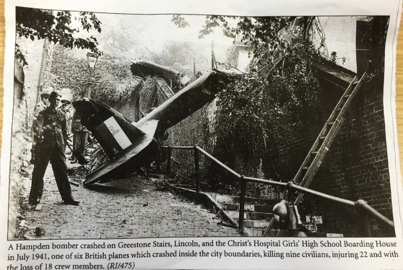 Norah's newspaper cutting of the crash on the Greestone steps.