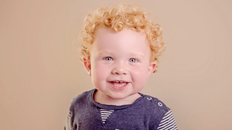 Robbie is 19 months old and will be the face of an international baby brand.