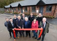 Woodhead Living and councillors celebrate the completion of five bungalows in Eastleigh Close. Photo: Stuart Wilde