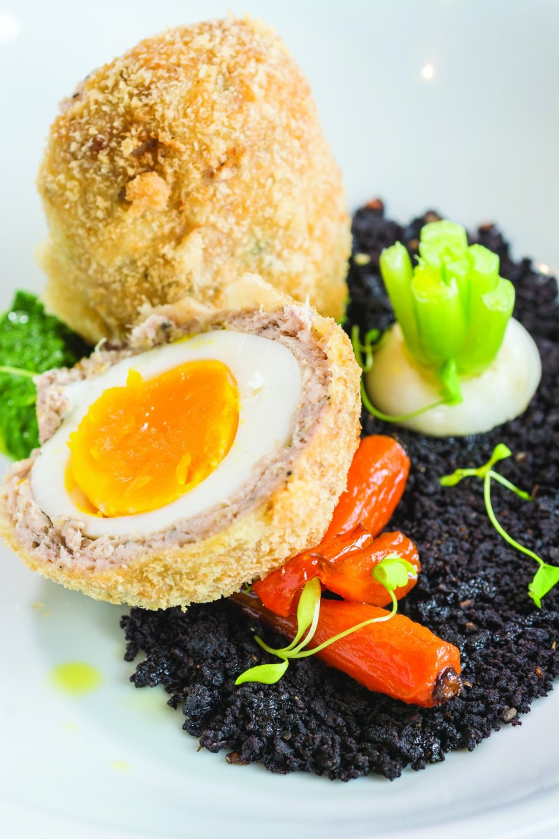 Doddington Hall's rabbit scotch egg (as featured in the Lincolnshire Cook Book).