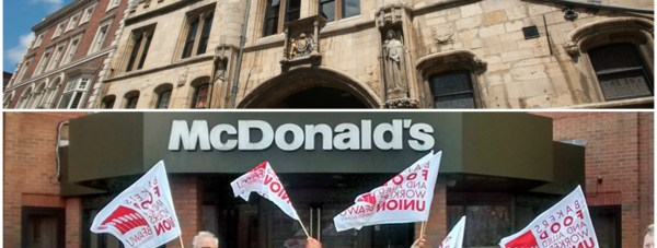 Protestors will meet at the Stonebow in Lincoln at lunchtime on Saturday. Pictured below is a previous BFAWU demo in Manchester.