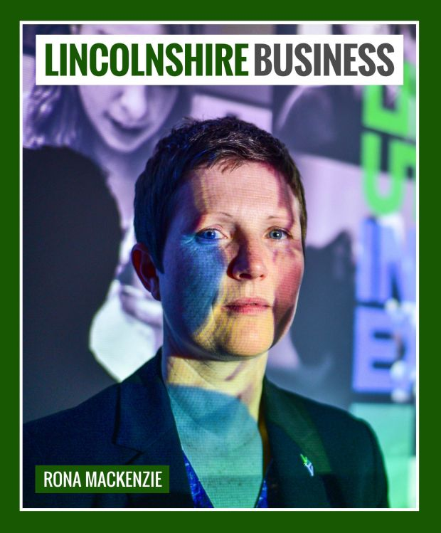 Rona Mackenzie on the cover of Lincolnshire Business magazine