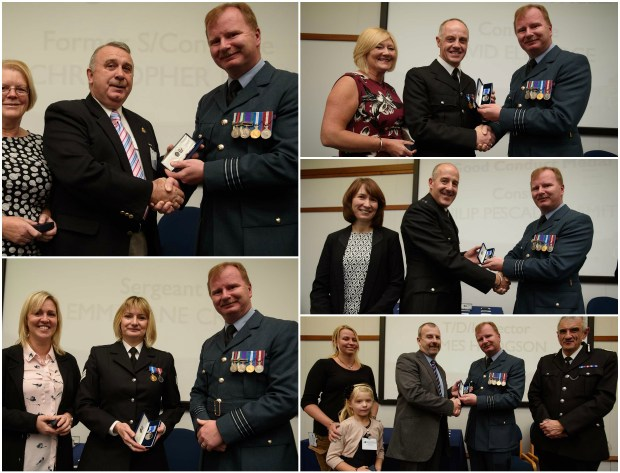 Top left to bottom right: Special Constable Christopher Riley, Constables Emma-Jane Crisp, David Eldridge, Philip Pescador-Smith and James Hodgson. Photos: Steve Smailes for The Lincolnite