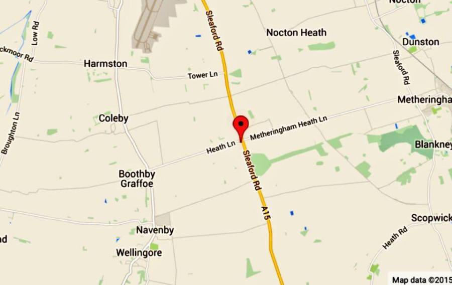 The crash happened at around 9.40m on Boxing Day on the A15. Photo: Google Maps