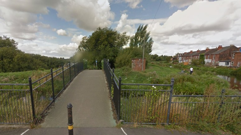 The girls were walking along Altham Terrace before turning right to walk along the side of the allotments towards Dixon Street when they were approached.