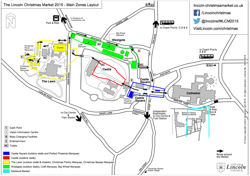 Click to enlarge the layout for this year's Lincoln Christmas Market.