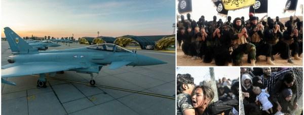 Syria Airstrikes Collage