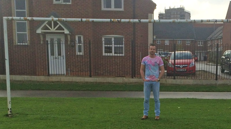 Daniel Wayte outside his Lincoln home.