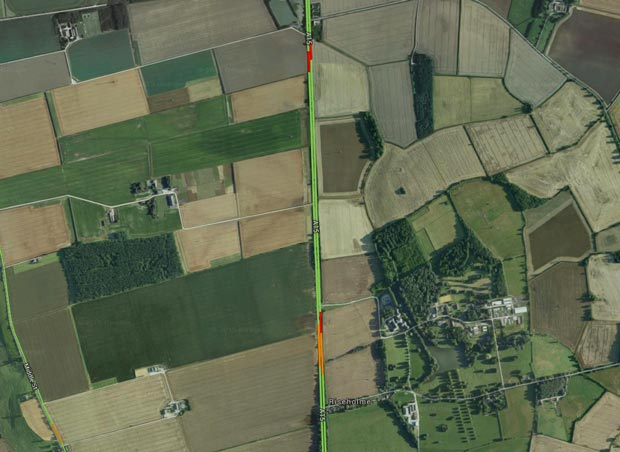 Traffic building up on the A15 north Lincoln. Photo: Google Maps