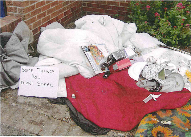 Hutchinson was find just under £2,500 for the revenge fly-tipping incident.