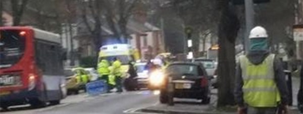 Image taken at the scene of the crash on Newport in Lincoln.