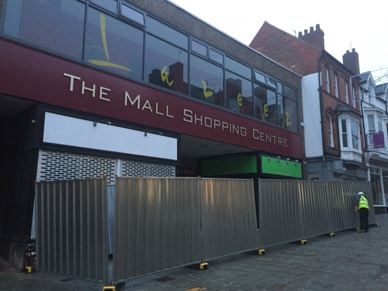 The transformation has begun at the Mall shopping centre. Photo: The Lincolnite