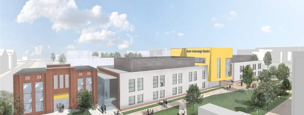 The latest artist impression of the Boole Technology Centre, which is now officially under construction. Photo: Lincoln Science and Innovation Park