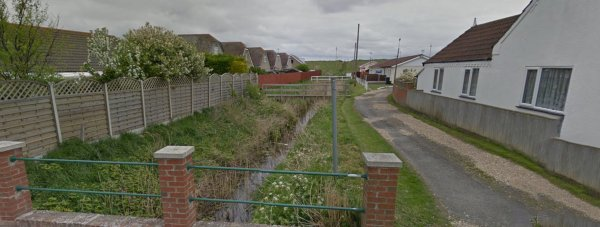 Underwater search units are in attendance at the dyke in Trusthorpe. Photo: Google Street View
