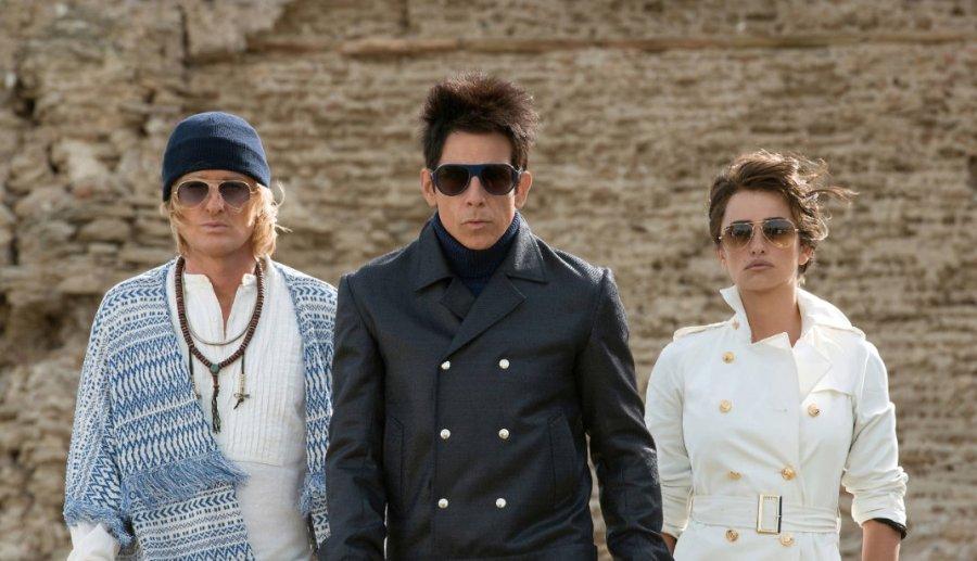 Ben Stiller, Penélope Cruz and Owen Wilson in Zoolander 2. Photo by Paramount Pictures.