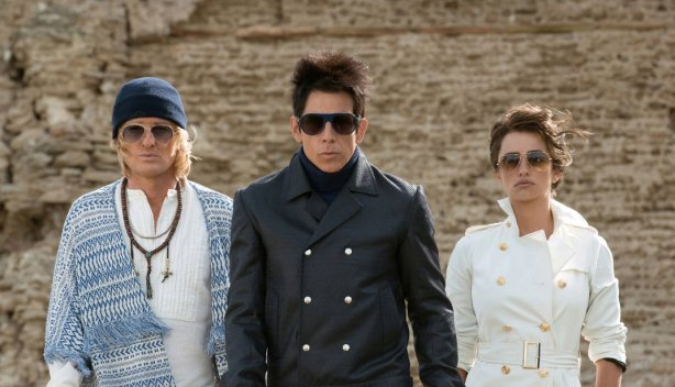 Ben Stiller, Penélope Cruz and Owen Wilson in Zoolander 2. Photo by Paramount Pictures.