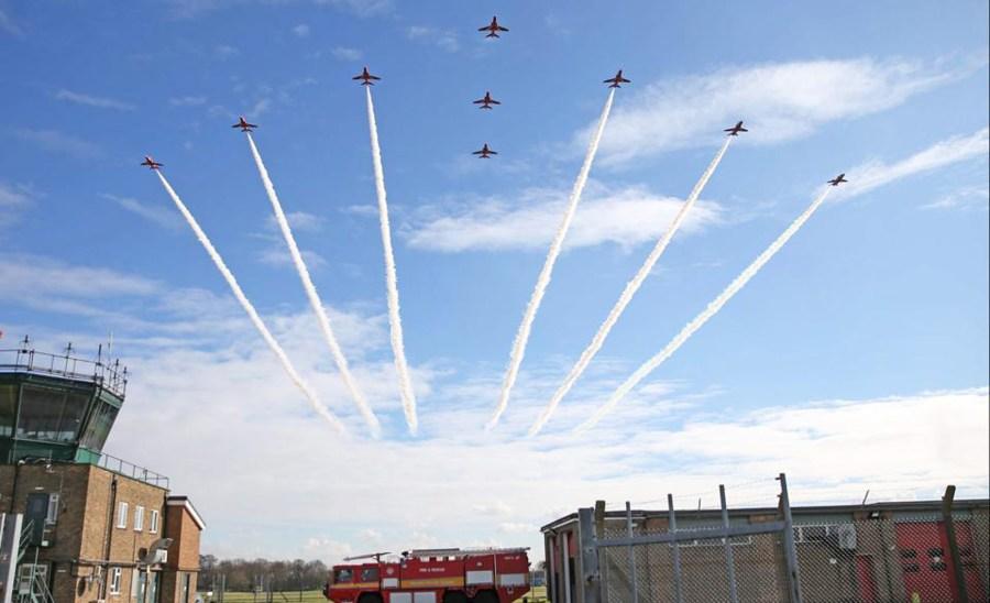 Photo: RAF Red Arrows