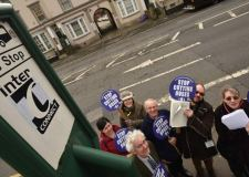 Campaigners against the cuts to Lincolnshire bus services. Photo: Steve Smailes for The Lincolnite