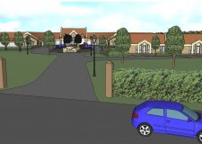 Artists' impressions of the proposed care home. Photo: John Halton Design Ltd