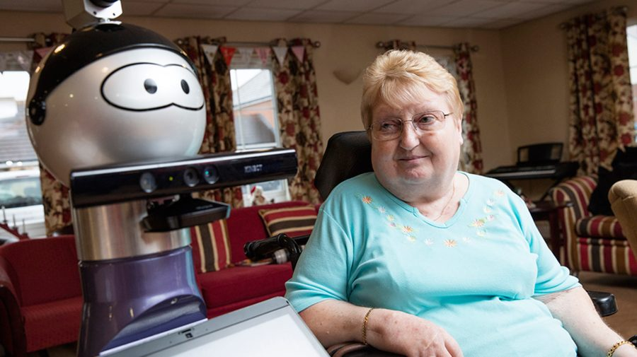 Alfie is already meeting residents in Lincolnshire. Photo: University of Lincoln