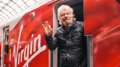 """Sir Richard Branson, founder of the Virgin Group, said, """"This is a hugely important moment for passengers on the East Coast."""""""