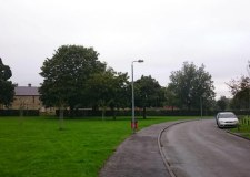 View northeast across the site frontage to Blankney Crescent. Photo: City of Lincoln Council