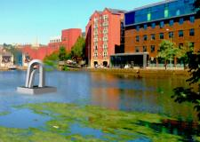 The sculpture is to be moored on the Brayford in Lincoln.