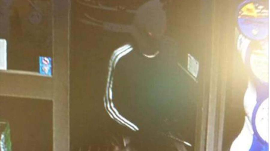 CCTV capture of the suspect in the Woodfield Avenue armed robbery
