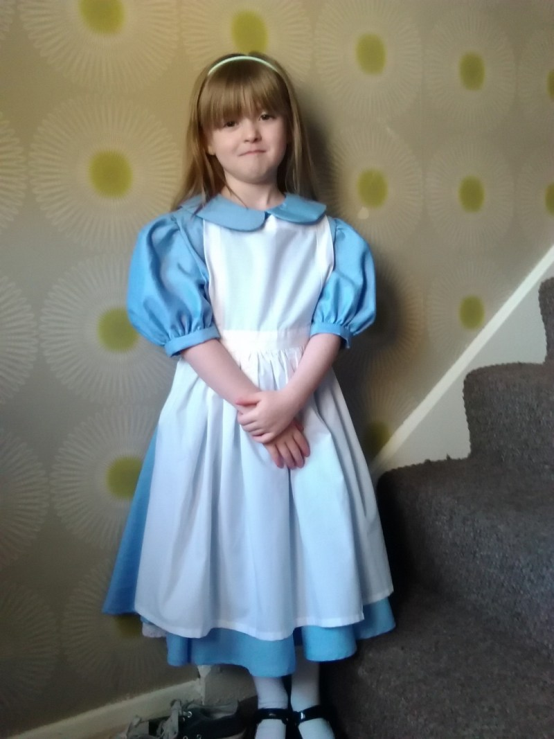 Allayha as Alice in Wonderland at Hillcrest Early Years Academy