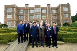 The Chinese delegation take a tour of Doddington Hall. Photo: Stuart Wilde