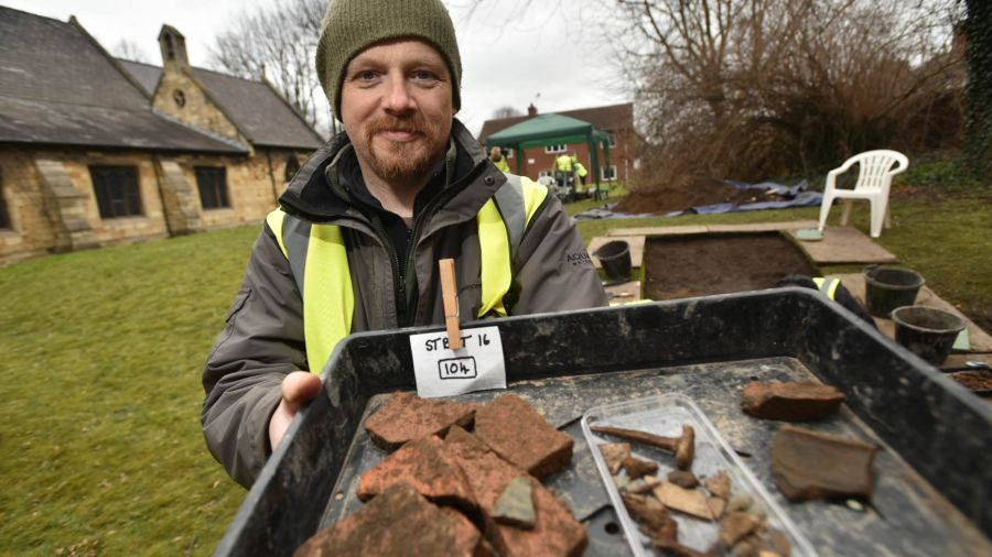 Community archaeologist Charles Simpson. Photo: Steve Smailes for The Lincolnite