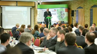Councillor Colin Davie, Executive Councillor for Economic Development, Environment, Strategic Planning and Tourism at Lincolnshire County Council, opened the day's events. Photo: Steve Smailes for The Lincolnite